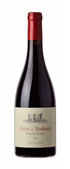 """2009 Château de Montfaucon """"Baron Louis"""" Côtes du Rhône    This latest release is produced from 50-to-90-year-old vines on select vineyard parcels on the right bank of the Rhône. This substantial yet elegant red can be enjoyed now, but it will be superb with several years more of cellar time. Try it with heartier fare like sirloin steaks dusted with fresh herbs.  (90pts - RP)"""