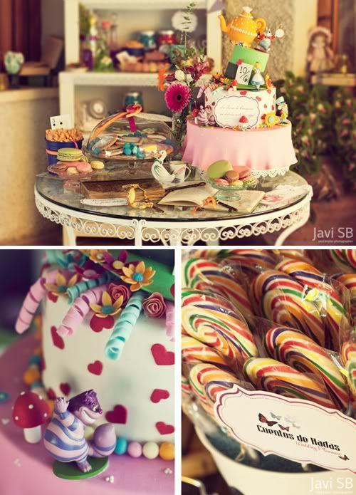Candy Bar Inspirada En Alicia Y El Pa 237 S De Las Maravillas