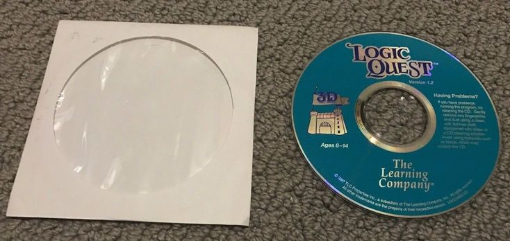 Logic Quest 3D (PC, 1996) Windows The Learning Company Computer Game Software