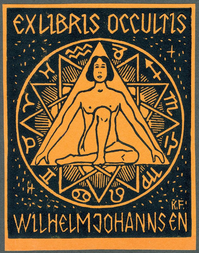 Ceremonial Magick:  #Ceremonial #Magick ~ Exlibris Occultis - Wilhelm Johannsen, by Karl Frech, 1920.