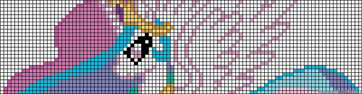 My Little Pony (MLP) Princess Celestia alpha friendship bracelet pattern