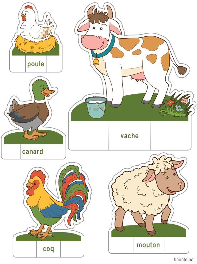 Apprendre les noms des animaux de la ferme en les découpant