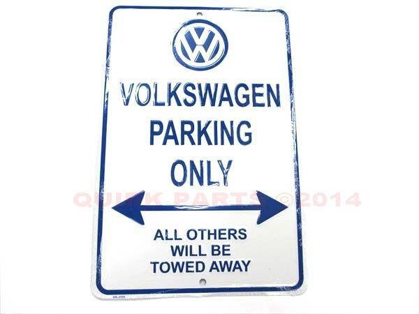 Genuine VW Volkswagen Metal Garage Parking Only Sign BRAND NEW Jetta Golf Passat #Volkswagen