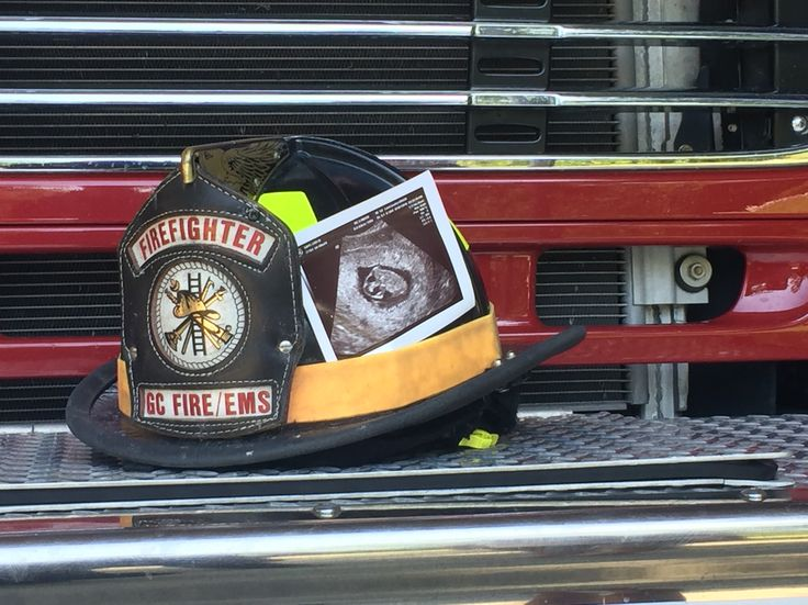Another firefighter themed pregnancy announcement for our Baby Sapp!