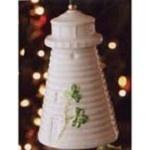 Belleek China Donaghadee Lighthouse Bell Ornament