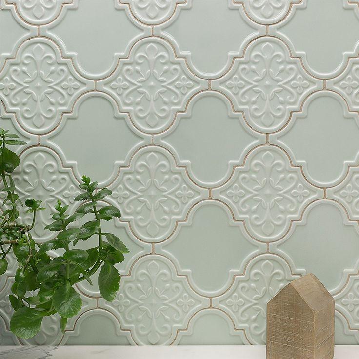 Byzantine Florid Arabesque Alice Ceramic Tile