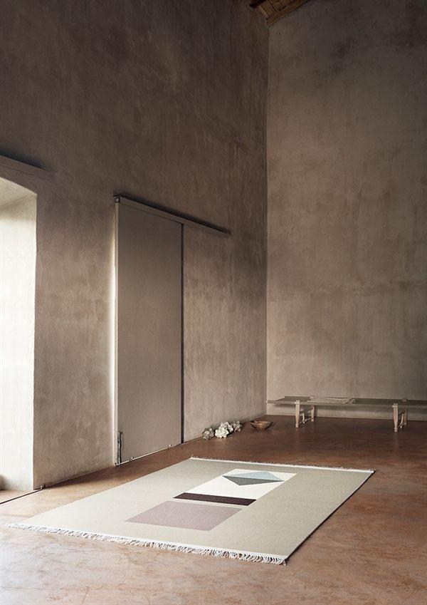 Alfombra de lana VERO, de la colección Artwork de Linie Design, tejida a mano. Distintos colores y medidas.