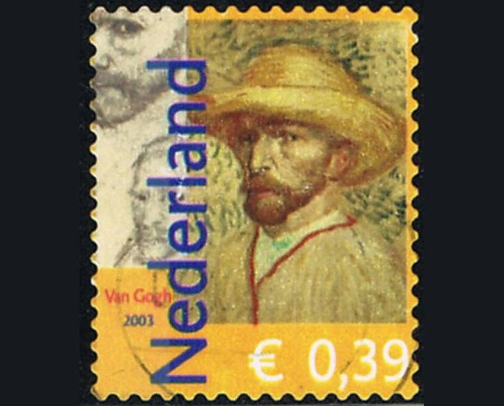 50 Postage Stamps Impressionist Painter Vincent Van Gogh The Netherlands. via Etsy.