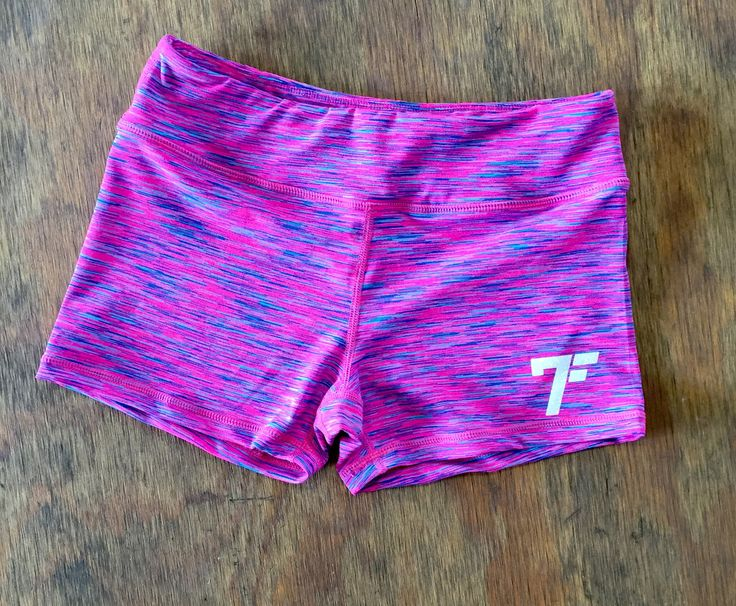 Women's 7Five multi-color tights shorts - PINK/PURPLE