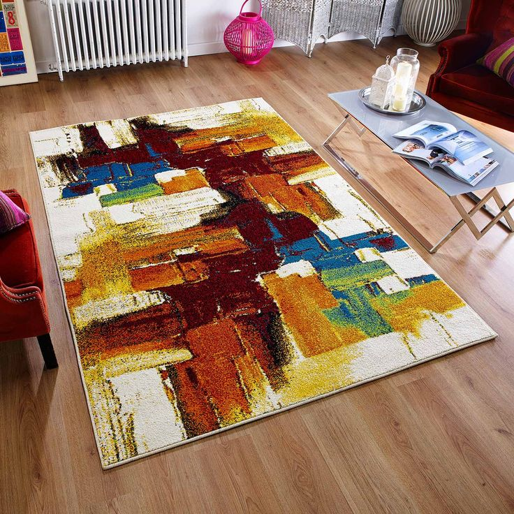 What a way to give your room a revamp_ This Cuba multicoloured abstract rug is going to add an x-factor into your décor. #multicolouredrug #modernrugs #largerugs #abstractrugs #affordablerugs