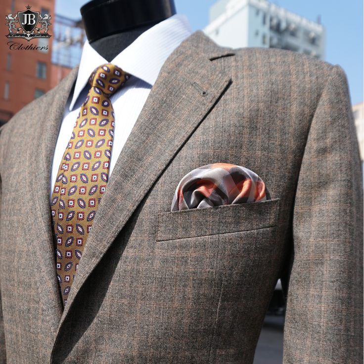 Many men look their best in earth-tones, making the brown suit an essential part of their wardrobe! It also serves as a popular color for casual fabric options like, tweed suits and sports jackets. #JBClothiers