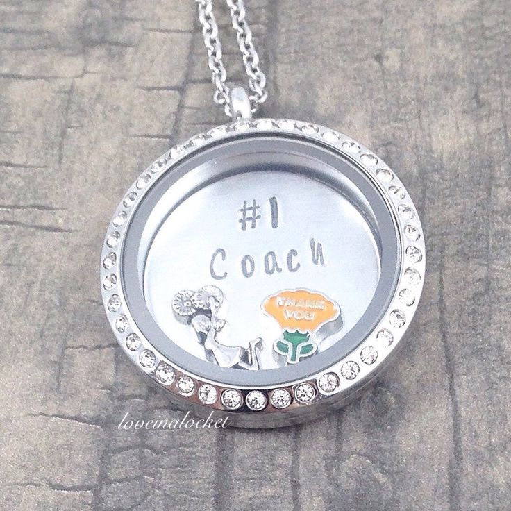 Cheer Coach Necklace, Cheer Coach Locket, Cheer Coach Gift, Floating Locket…