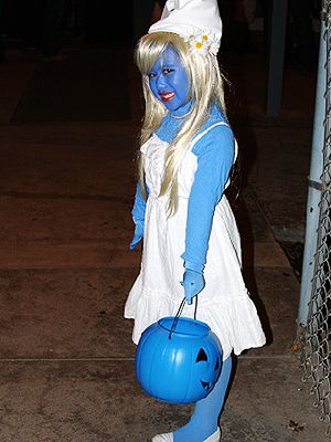 Easy Little Girl Halloween Costumes from Real Moms!: Smurf (via Parents.com)