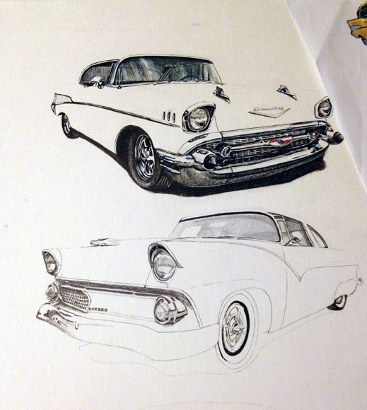Car Drawings: 83 Best Images About Muscle Car Drawings On Pinterest