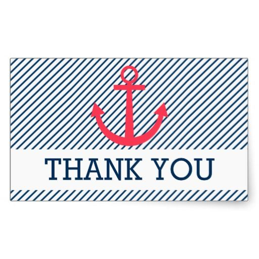 Striped thank you stickers