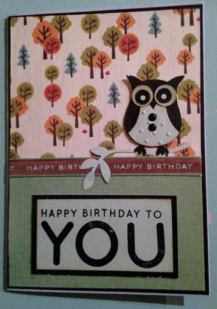 Birthday Owl Card using Stampin Up owl punch and my favourite birthday sentiment
