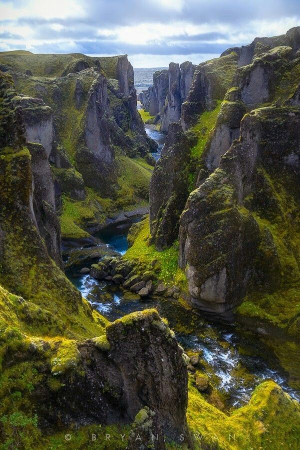 Canyon in Iceland