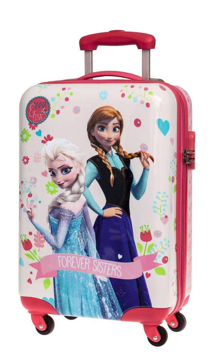 Frozen el reino de hielo, nos presenta su maleta de cuatro ruedas con las hermanas Elsa y Anna