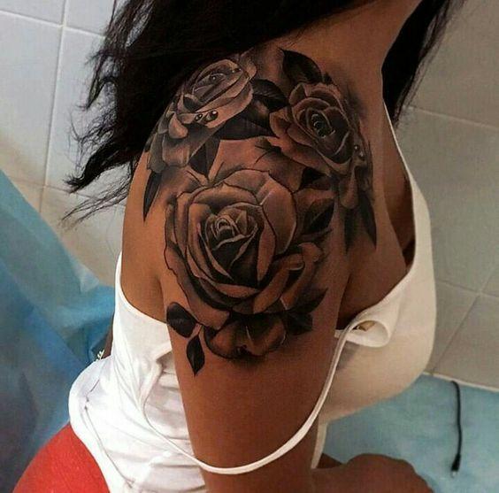 Brilliant Rose Tattoos For Women