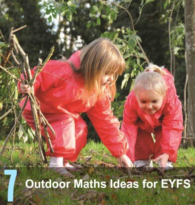 Fun outdoor maths ideas for EYFS #LearningIsFun