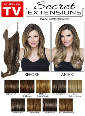 """Add 16"""" of thicker, longer and fuller hair that's ready to wear instantly! Secret Extensions Headband is the virtually invisible hair extension that blends seamlessly into your natural hair without bumps, bulk or weight. Simply slip it over your head like a headband and pull your own hair over the extension."""