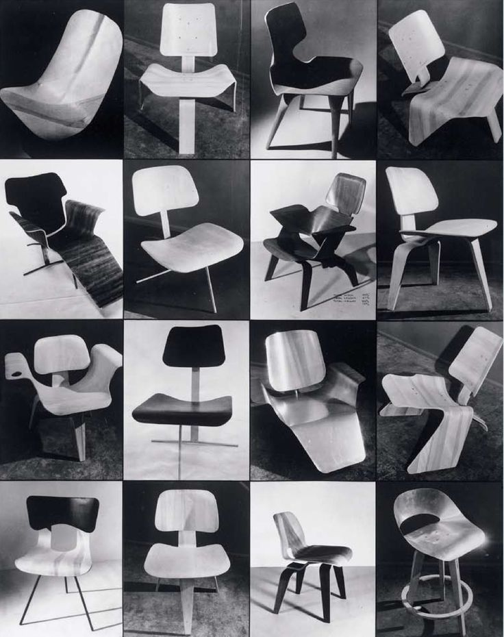 1950 Charles & Ray Eames Prototype Plywood Chairs   Photos: Charles Eames   Boyd Collection