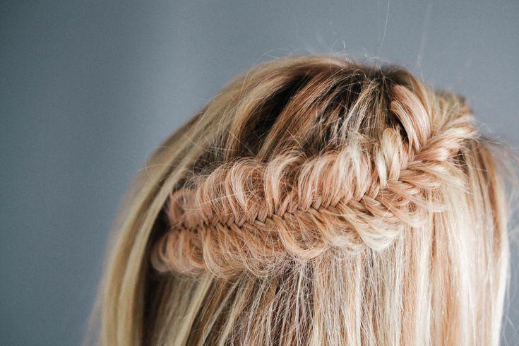 Hair Tutorial // Half Up FishTail Braid — Treasures & Travels