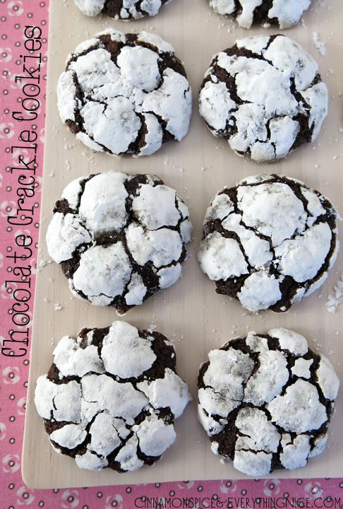 Chocolate Crackle Cookies - I think I'll make these with the kids this afternoon...