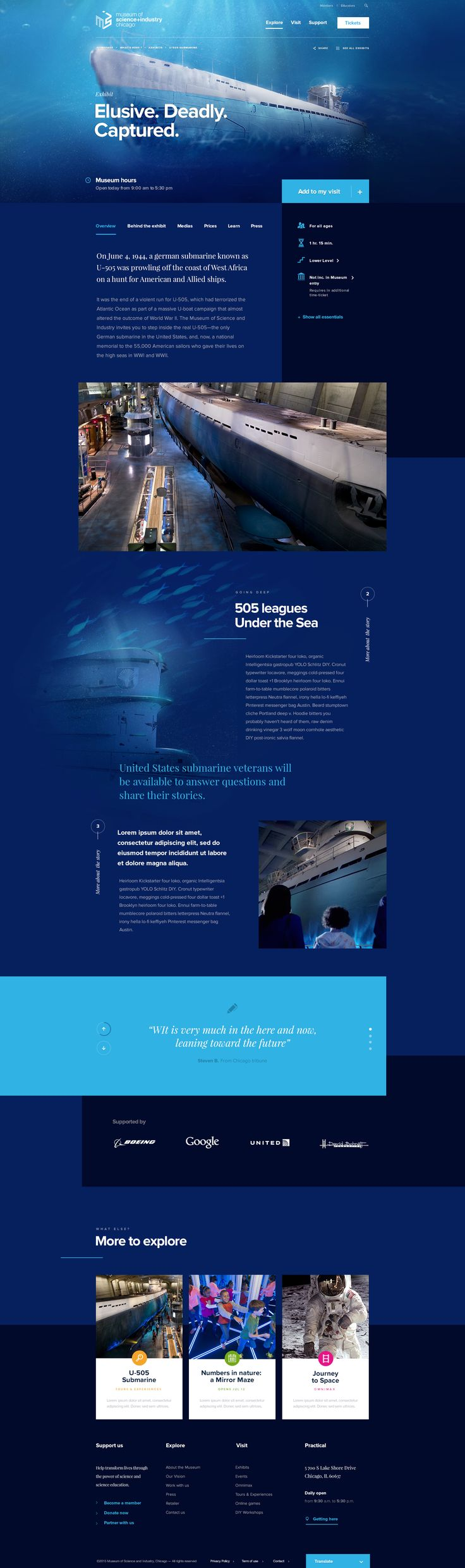 Museum Of Science And Industry Of Chicago - Exhibit page by Dogstudio