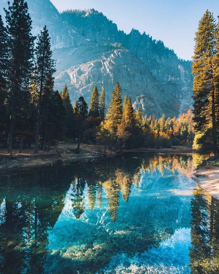 Ruhe auf dem Merced River, Yosemite National Park….