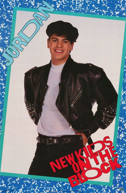 I nearly broke my poor mother with my NKOTB obsession. I had this and hundreds of other pictures on my walls. Jordan was (and still is) one very pretty man. (via picclick.com)
