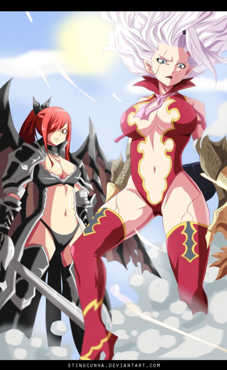 Fairy Tail 364 - Mirajane and Erza Fighting by StingCunha on deviantART
