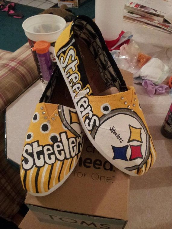 Hey, I found this really awesome Etsy listing at https://www.etsy.com/listing/117114461/custom-steelers-handpainted-toms