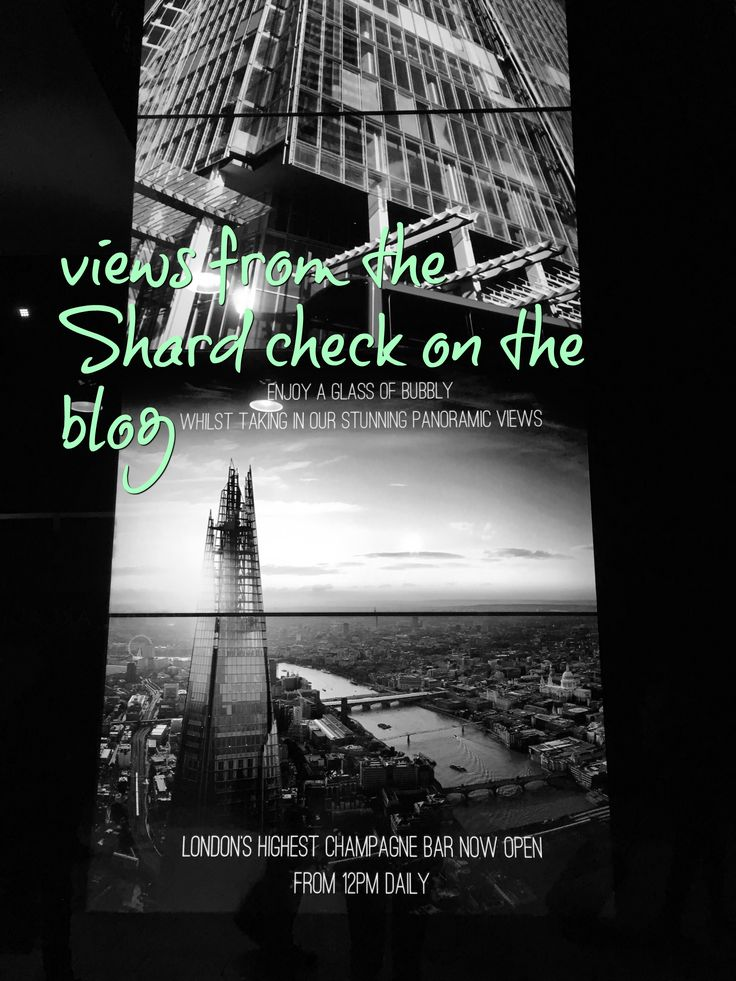 Enjoy the views from the shard, I show you some pictures on the blog and how to book.