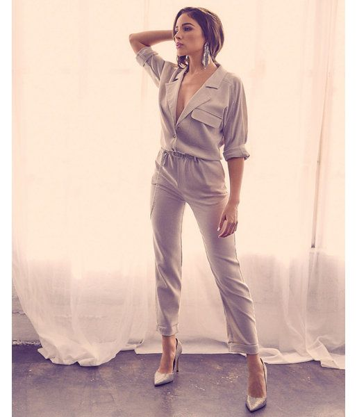 8e8590698a6ab Olivia Culpo Utility Jumpsuit Neutral Women's XXS | Products in 2019 ...