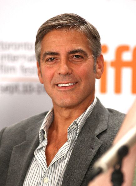 George Clooney Short Side Part - George Clooney Hair - StyleBistro