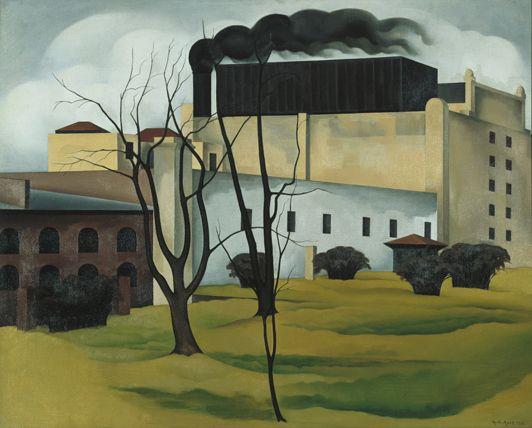 "George Copeland Ault, ""Brooklyn Ice House,"" 1926"