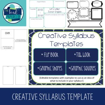 25+ ide terbaik Syllabus template di Pinterest Pengajaran kampus - syllabus template