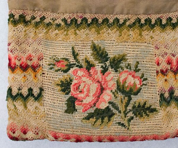 #7434 1830s Needlepoint purse at VintageTextile.com
