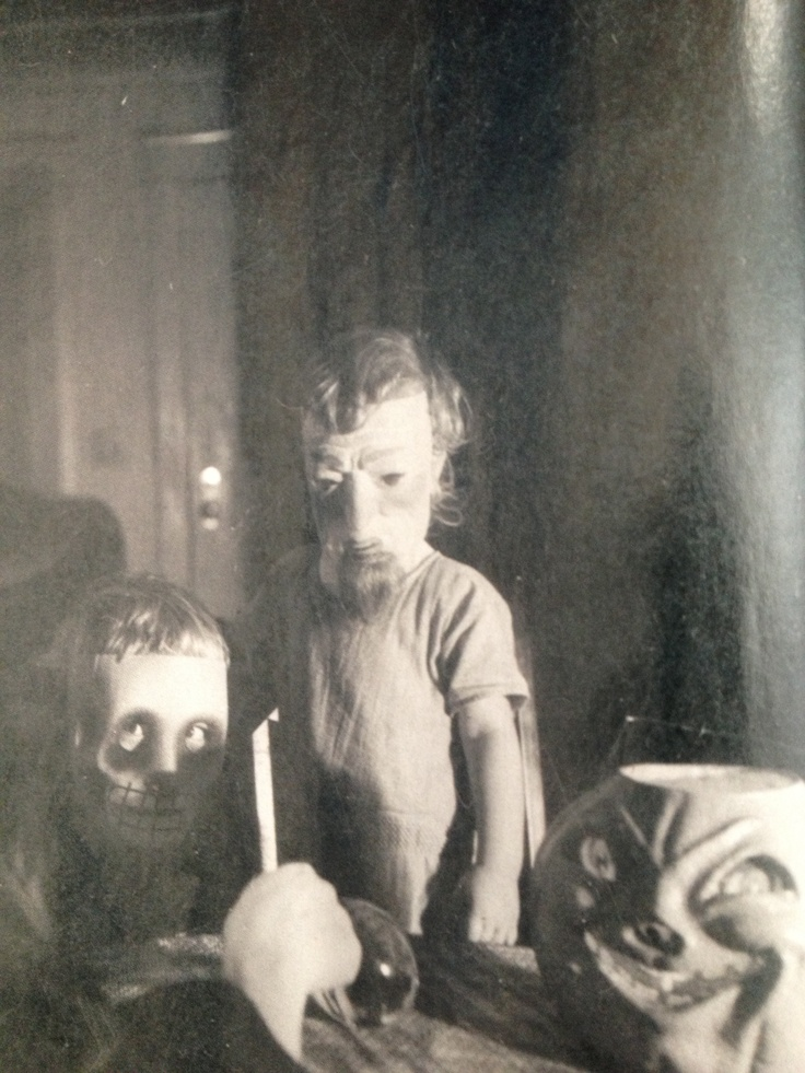 Intriguing series of old American Halloween photographs collected by Ossian Brown. See his book 'Haunted Air'.