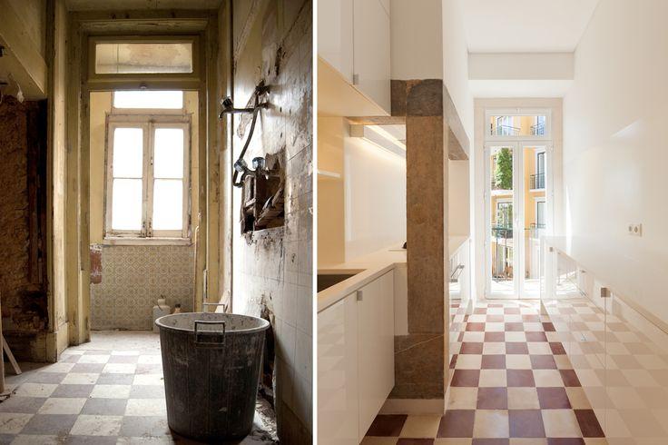 #refurbishment #kitchen #before&after #tiles #targa #atelier