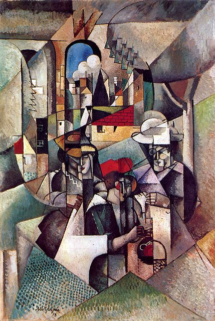 "Albert Gleizes, was a French artist, theoretician, philosopher, a founder of Cubism and an influence on the School of Paris. Albert Gleizes and Jean Metzinger wrote the first major treatise on Cubism, Du ""Cubisme"", 1912. This paining is extremely complex and unique and that is why it is so beautiful"