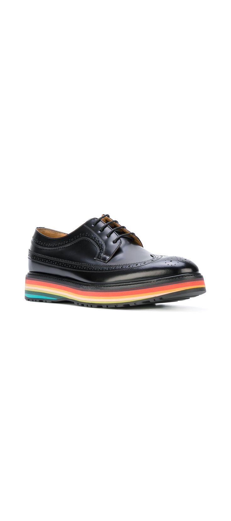 PS BY PAUL SMITH striped platform brogues, explore the latest new season arrivals on Farfetch.