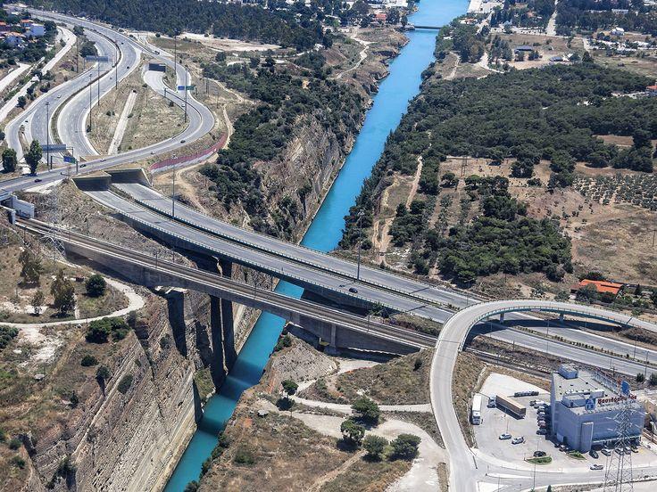 Aerial View of Olympia odos-Isthmos