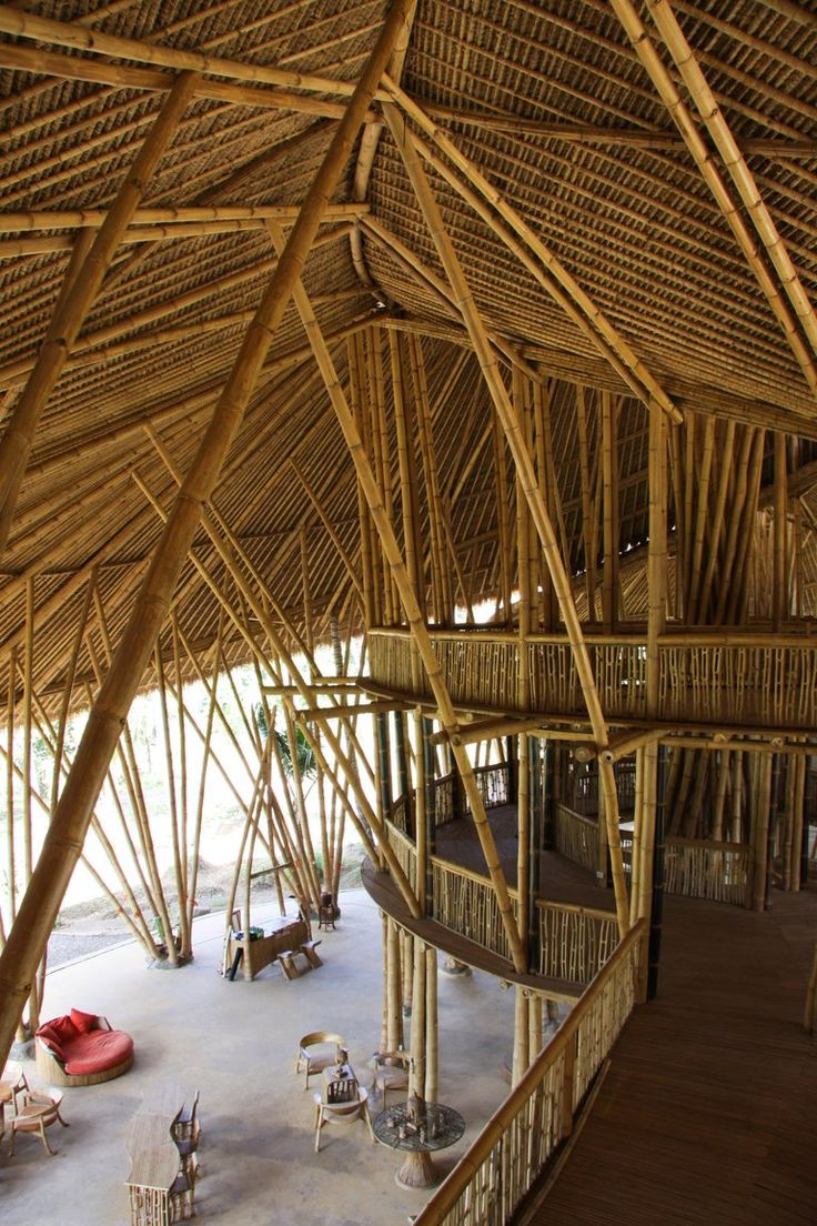 Bamboo structure the bamboo structure is suited - Heart Of School Interior Designed By Pt Bambu Bamboo Boatbamboo Structurebamboo