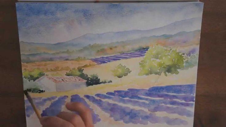 Les 25 meilleures id es de la cat gorie tutoriel paysage aquarelle sur pinterest techniques d - Quand tailler les lavandes ...