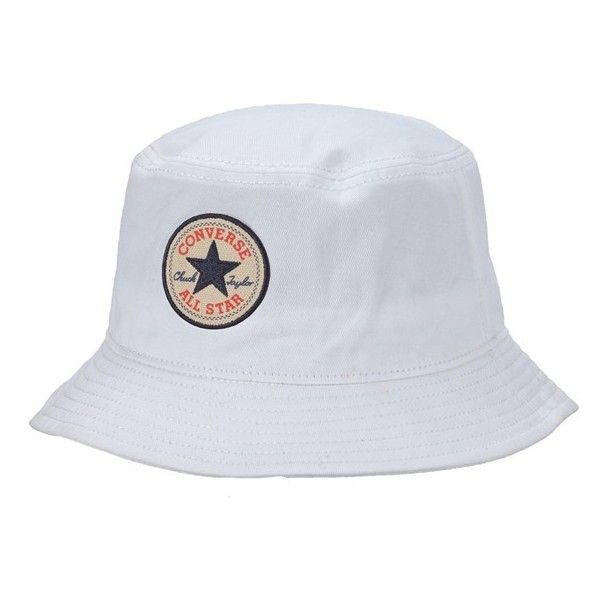 Converse 'Classic' Bucket Hat ($28) ❤ liked on Polyvore featuring men's fashion, men's accessories, men's hats and converse white
