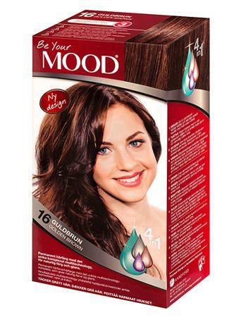 » N 16 GULDBRUN Permanent hårfärg med det unika komplexet multitechnology – ett 4 in 1-system som färgar, tvättar, skyddar och vårdar ditt hår, för naturlig färg och glans. Täcker grått hår upp till 100%.  Brun nyans med guld/rödbruna toner. Mörkt hår blir brunt och gyllenaktigt. Ljust hår blir mörkare och gyllenaktigt. Grått hår blir mörkbrunt och gyllenaktigt.