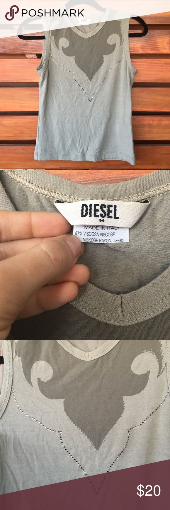 NWOT Diesel tank top Super soft & thick rayon Diesel top. Worn precisely once, in mint condition. Perfect for the punk rocker in your life, or just to add a cool kick to any outfit :) Diesel Tops Tank Tops