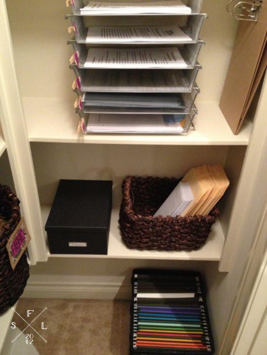 Home Office Closet Inspiration // SimplyFabulousLiving.com